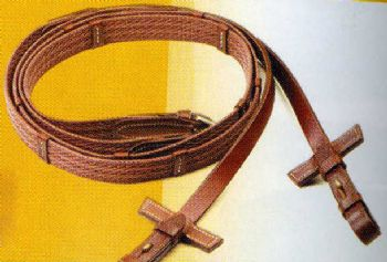 Pessoa webbing and leather reins